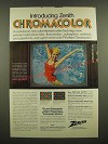 1969 Zenith Chromacolor TV Ad