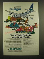 1969 Air New Zealand Ad - Fly the Flight Fantastic