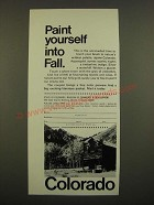 1969 Colorado Tourism Ad - Paint Yourself into Fall