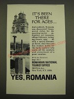1969 Romanian National Tourist Office Ad - It's Been There for Ages