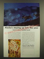 1967 Alaska Tourism Ad - Staying up Late This Year