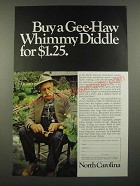 1967 North Carolina Tourism Ad - Buy a Gee-Haw Whimmy Diddle