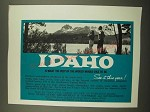 1967 Idaho Tourism Ad - What the Rest of the World Would Like To Be