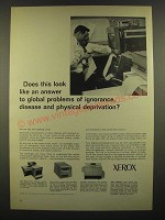 1966 Xerox Copiers Ad - Answer to Ignorance, Disease, Physical Deprivation