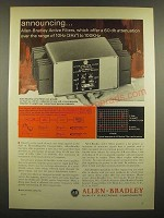 1966 Allen-Bradley Active Filters Ad - Offer a 60 db Attenuation