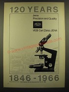 1966 Carl Zeiss Microscope Ad - 120 Years