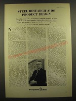 1966 Youngstown Steel Ad - Steel Research Aids Product Design