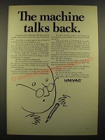 1966 Univac 1108-II Computer ad - The Machine Talks Back