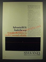 1966 GT&E SUHL Sylvania Universal High-level Logic Ad - ECG Finds the Way