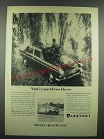 1966 Peugeot Ad - What's A Beaufiful Car Like You Doing In a Place Like This?