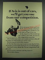 1966 Avis Rent a Car Ad - We'll Get You One From Our Competition