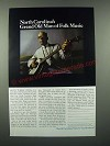 1966 North Carolina Tourism Ad - Bascomb Lamar Lunsford