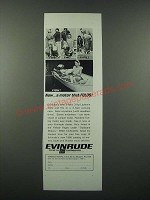 1966 Evinrude Lightwin Outboard Motor Ad - A Motor That Folds!