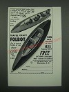 1966 Travel Craft Folbot Boat Ad