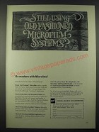 1965 GAF Microline Microfilm Systems Ad - Still Using Old Fashioned