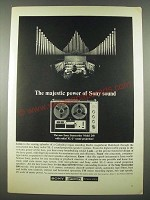 1965 Sony Sterecorder Model 260 Ad - The Majestic Power of Sony Sound