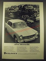 1965 Peugeot Car Ad - Call Me Industructible
