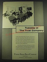 1965 United States Trust Company Ad - Tuesday at The Trust Company