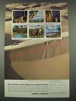 1965 Southern California Tourism Ad - Helps Keep Vacation Costs Down