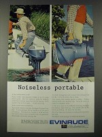 1965 Evinrude Sportwin Outboard Motor Ad - Noiseless Portable