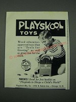 1965 Playskool Postal Station Toy Ad