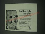 1965 Minox Camera Ad - Featherlight Traveler