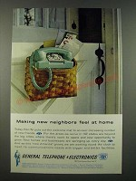 1962 GT&E Telephone Ad - Making New Neighbors Feel at Home