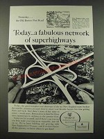 1962 First National Bank of Boston Ad - Fabulous Network of Superhighways