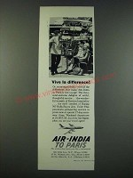 1961 Air-India Airline Ad - Vive La Difference