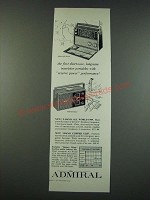 1961 Admiral 9-Band All World Y909 and 3-Band Clipper Y2137 Radios Ad