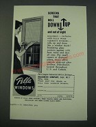 1961 Pella Windows Ad - Screens That Roll Down Up