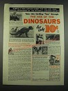 1960 The Audobon Nature Program Ad - The Age of the Dinosaurs