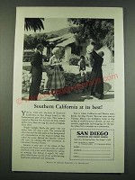 1960 San Diego California Ad - Southern California At Its Best