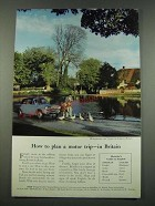 1960 First Travel Association Ad - How to Plan a Motor Trip in Britain