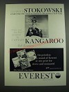 1960 Everest Records Ad - Peter and the Wolf Album with Captain Kangaroo