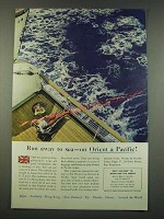 1960 Orient & Pacific Cruise Ad - Run Away to Sea