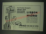 1960 Iberia Air Lines Ad - Lisbon and Madrid
