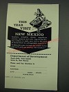 1960 New Mexico Tourism Ad - This Year Visit