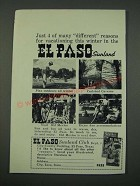 1960 El Paso Texas Ad - 4 of Many Different Reasons