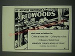 1960 Humboldt County Board of Trade Eureka, California Ad - Redwoods