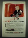 1959 Dictaphone Time-Master Dictation Machine Ad - A Red Belt