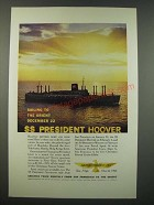 1959 American President Lines Ad - S.S. President Hoover