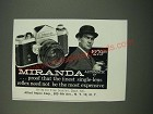 1959 Miranda Automatic C Camera Ad