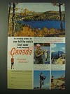 1956 Canada Tourism Ad - Over Half The World's Fresh Water