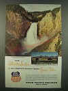 1956 Union Pacific Railroad Ad - Your Yellowstone Vacation