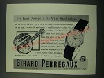 1956 Girard-Perregaux Gyromatic Watch Ad - 166 Years Devoted to Watchmaking