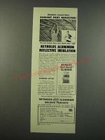 1954 Reynolds Aluminum Building Products Ad - Radiant Heat Reflector