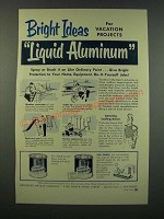 1954 Reynolds Liquid Aluminum Ad - Bright Ideas