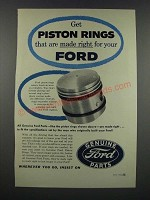 1954 Ford Piston Rings Ad - Made Right For Your Ford
