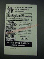 1952 Bellingrath Gardens Mobile, Alabama Ad - Follow this Signpost